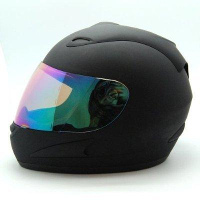 WOW Motorcycle Full Face Helmet Street Bike Matt Black