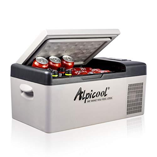 Alpicool C15 Portable Refrigerator 16 Quart(15 Liter) Vehicle, Car, Truck, RV, Boat, Mini Fridge Freezer for Driving, Travel, Fishing, Outdoor -12/24V DC