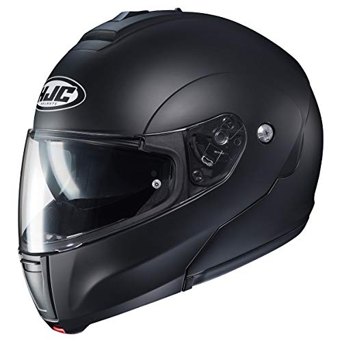 HJC Solid CL-MAX 3 Men's Modular Street Motorcycle Helmet - Semi Flat Black/Large