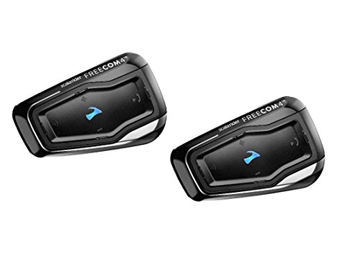 Cardo scala rider FREECOM 4 Duo - Bike to Bike Bluetooth 4.1 Motorcycle Communication System with HD Audio, Connect with up to 4 riders (Dual Pack)