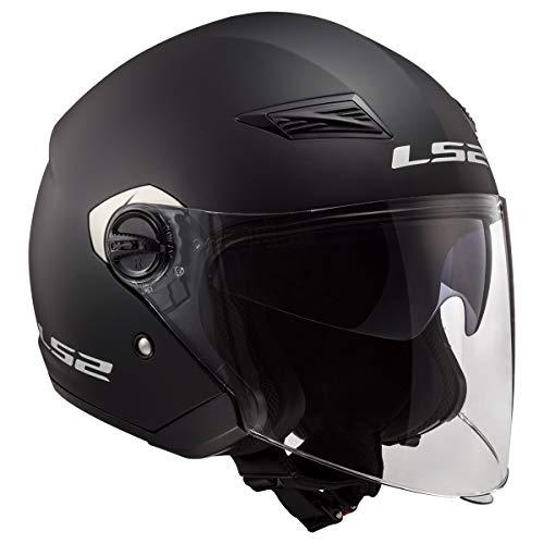 LS2 Helmets Open Face Track Helmet (Matte Black - Large)