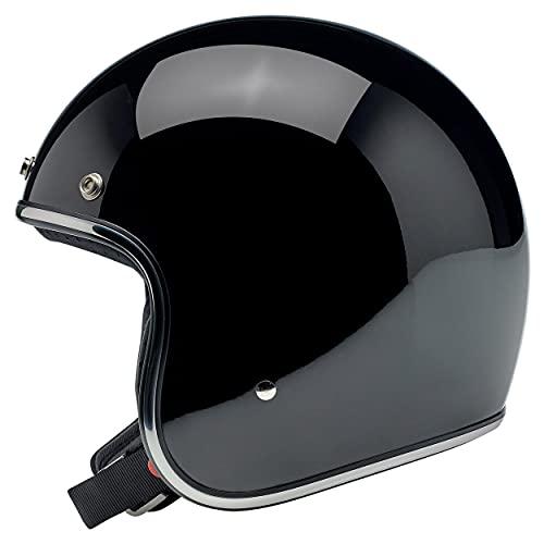 BILTWELL Bonanza 3/4 Helmet Gloss Black - Large