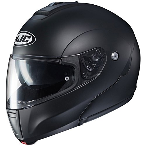 HJC Solid Men's CL-MAX 3 Modular Street Motorcycle Helmet - Semi Flat Black/Large