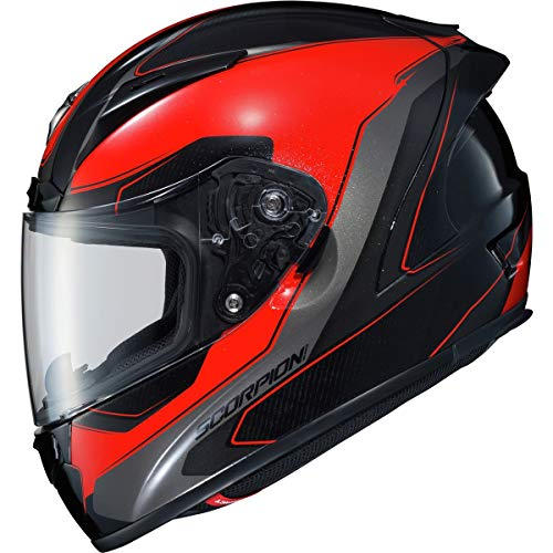 ScorpionEXO EXO-R2000 Adult Street Motorcycle Helmet - Hypersonic Red/Medium