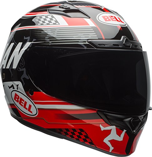 Bell Isle Of Man Adult Qualifier DLX Street Motorcycle Helmet - Black/Red/Large