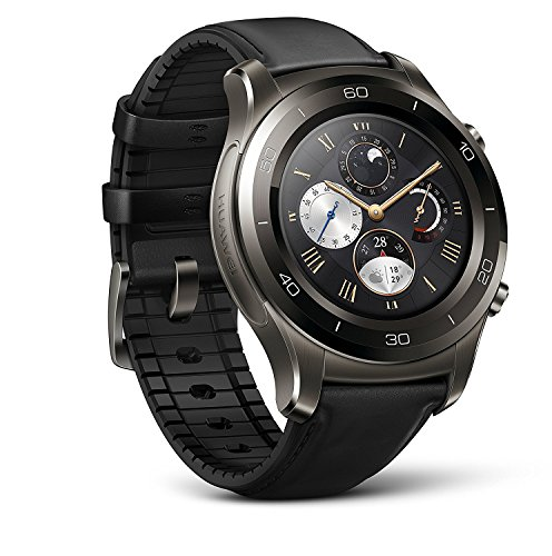Huawei Watch 2 Classic Smartwatch - Ceramic Bezel- Black Leather Strap(Us Warranty)