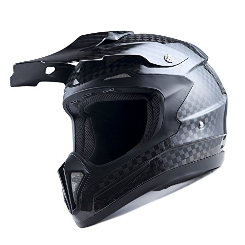 1Storm Genuine Carbon Fiber Motorcycle Street Bike Full Face Helmet