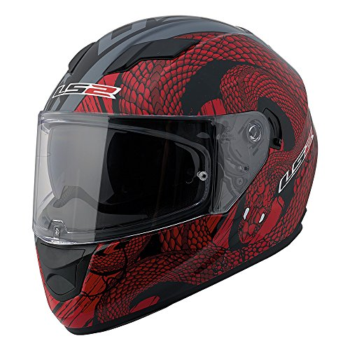 LS2 Stream Snake Full Face Motorcycle Helmet with Sunshield